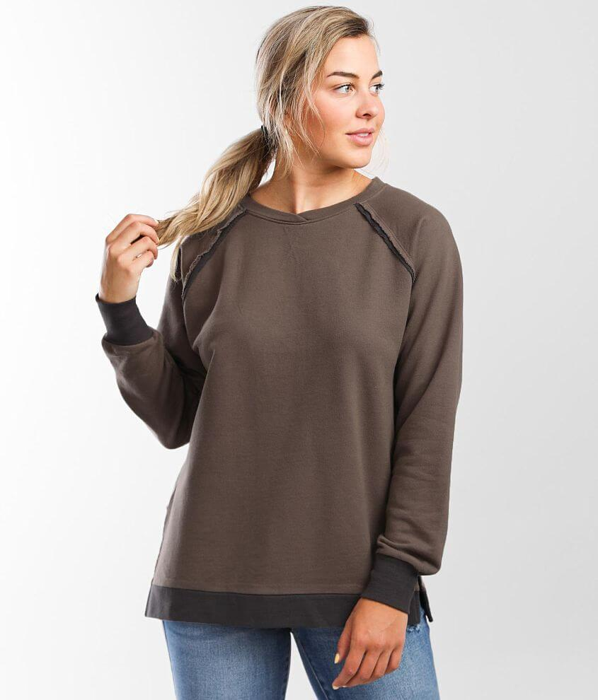 BKE Back Criss Cross Pullover front view
