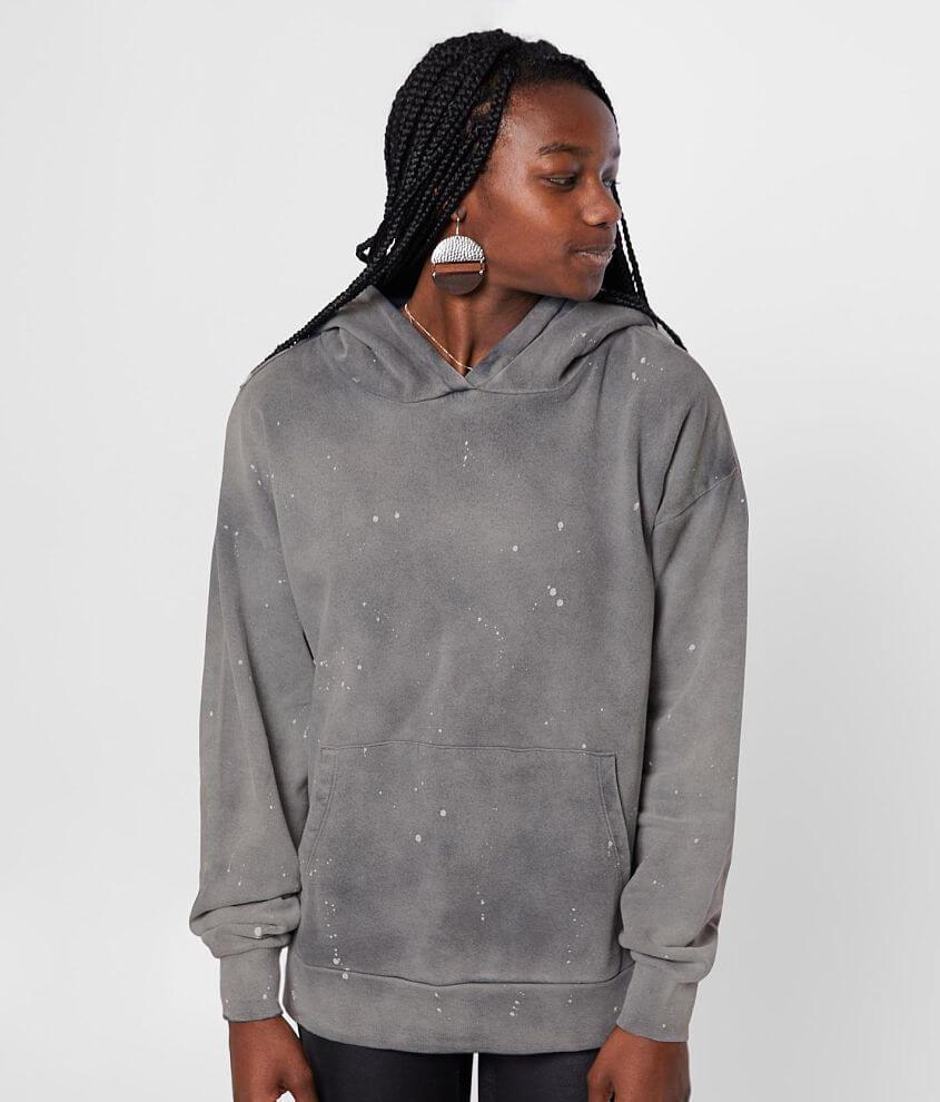 Gilded Intent Paint Splatter Hooded Sweatshirt front view