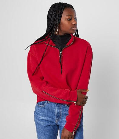 Gilded Intent Quarter Zip Cropped Pullover