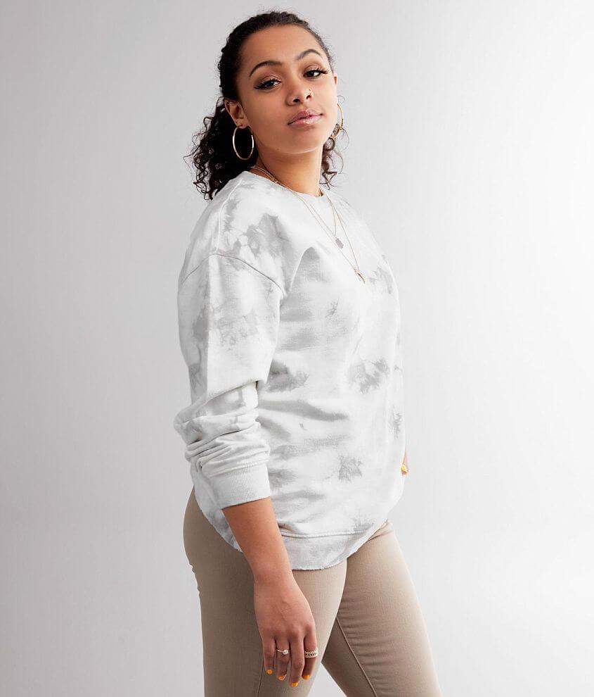 Gilded Intent Tie Dye Pullover Sweatshirt front view