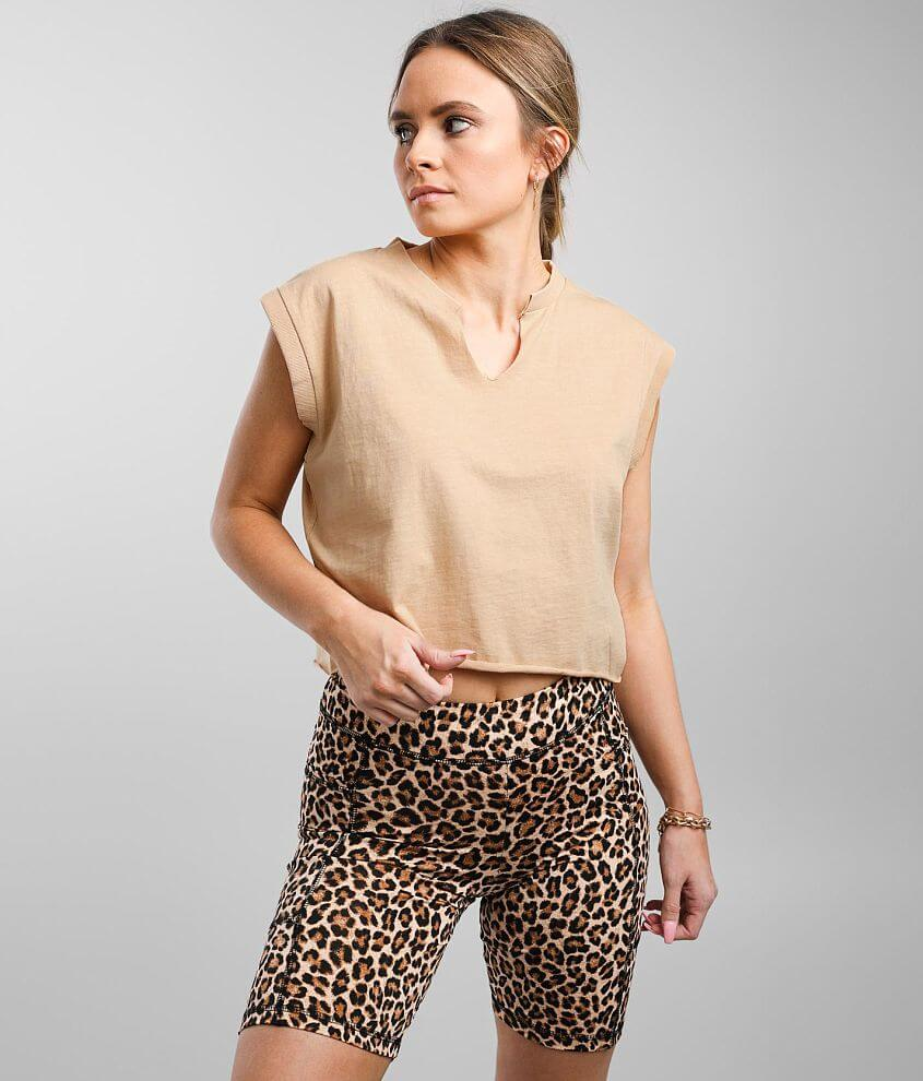 Gilded Intent Cropped Cap Sleeve T-Shirt front view