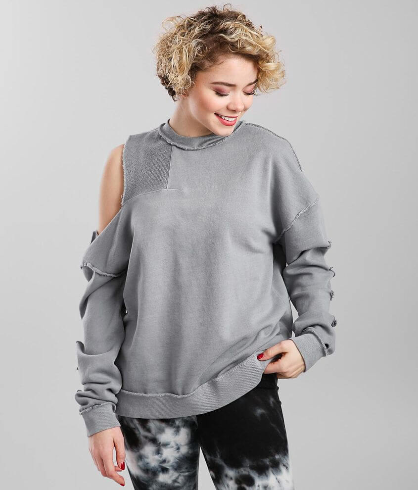 Gilded Intent Raw Edge Pullover Sweatshirt front view