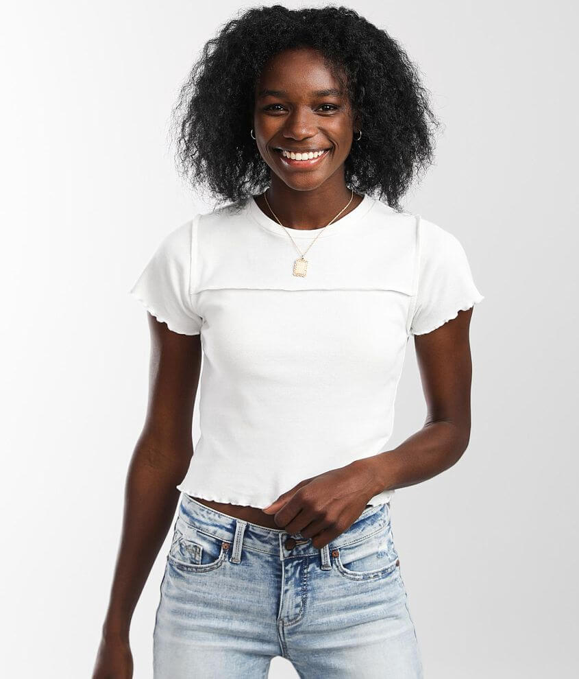 FITZ + EDDI Fitted Crop Top front view