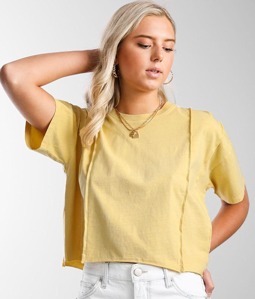 Gilded Intent Exposed Seam T-Shirt front view