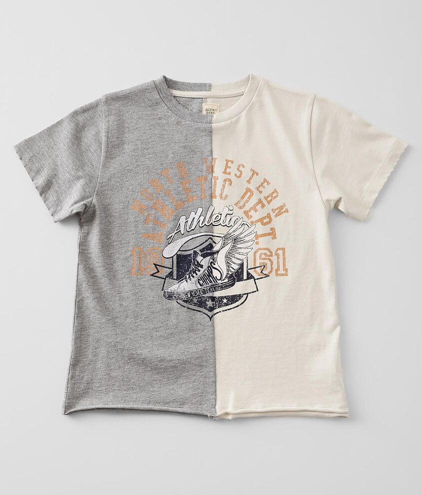 Girls - Modish Rebel Spliced Athletic T-Shirt front view
