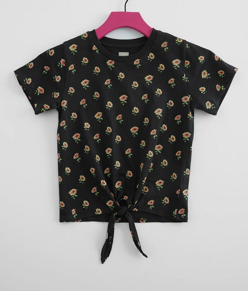 Girls - Modish Rebel Sunflower T-Shirt front view