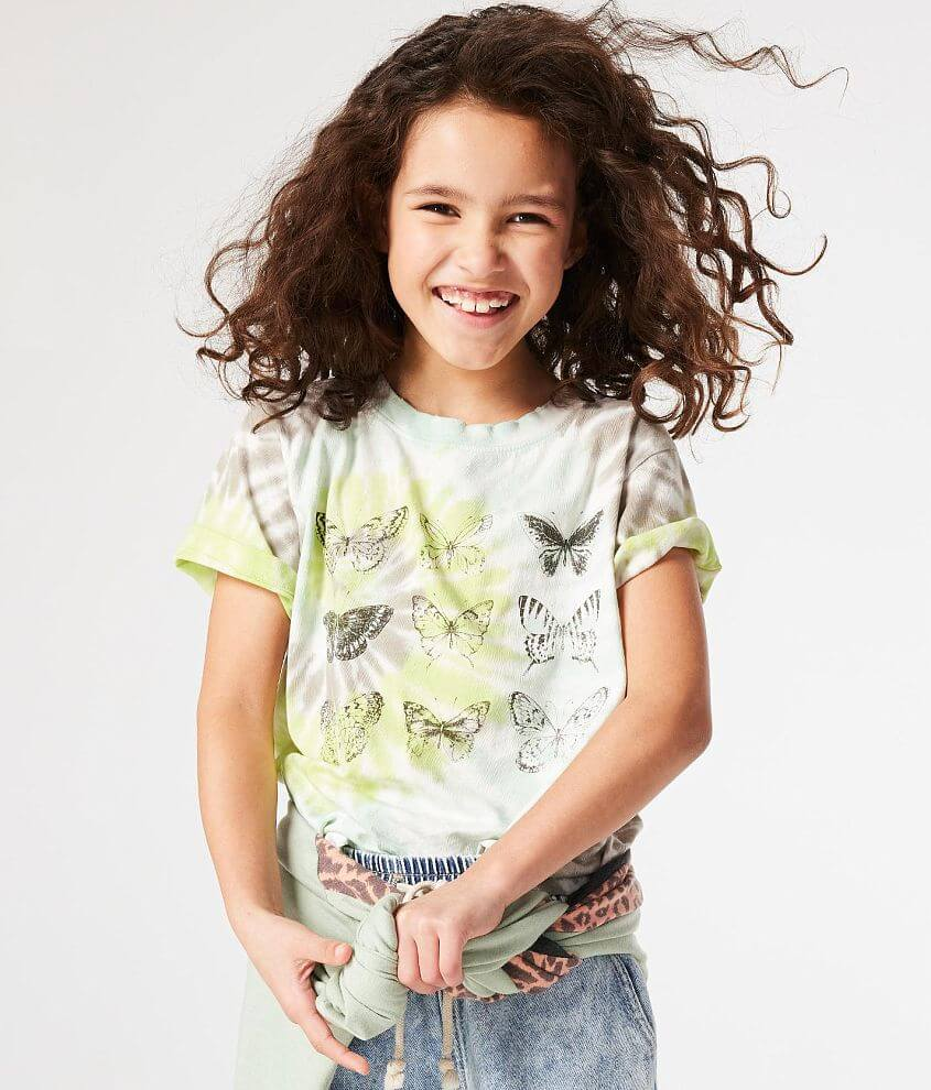Girls - Modish Rebel Butterfly T-Shirt front view