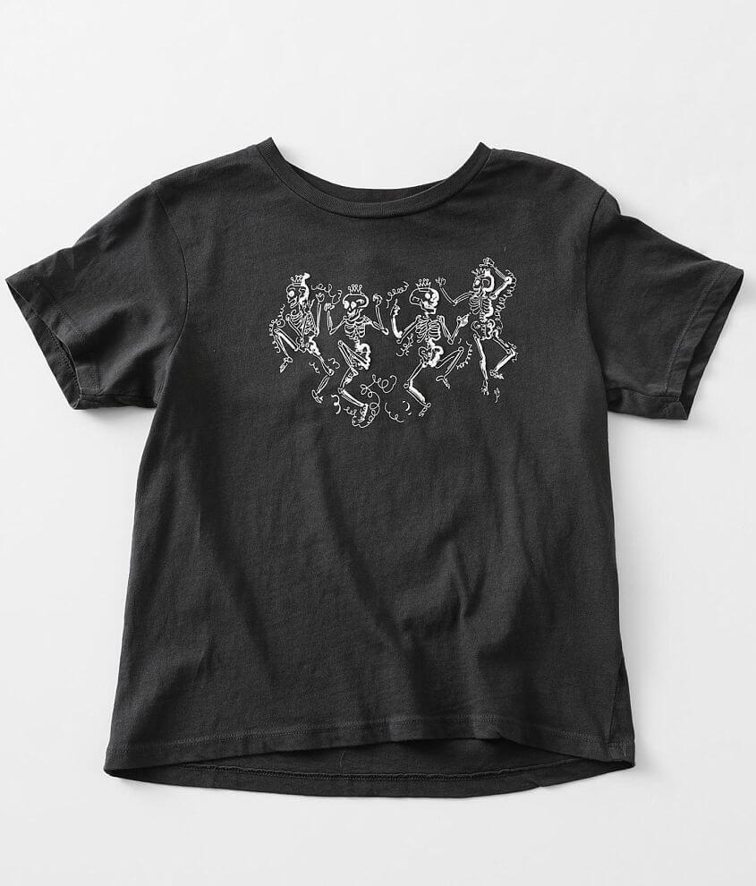 Girls - Modish Rebel Dancing Skeletons T-Shirt front view