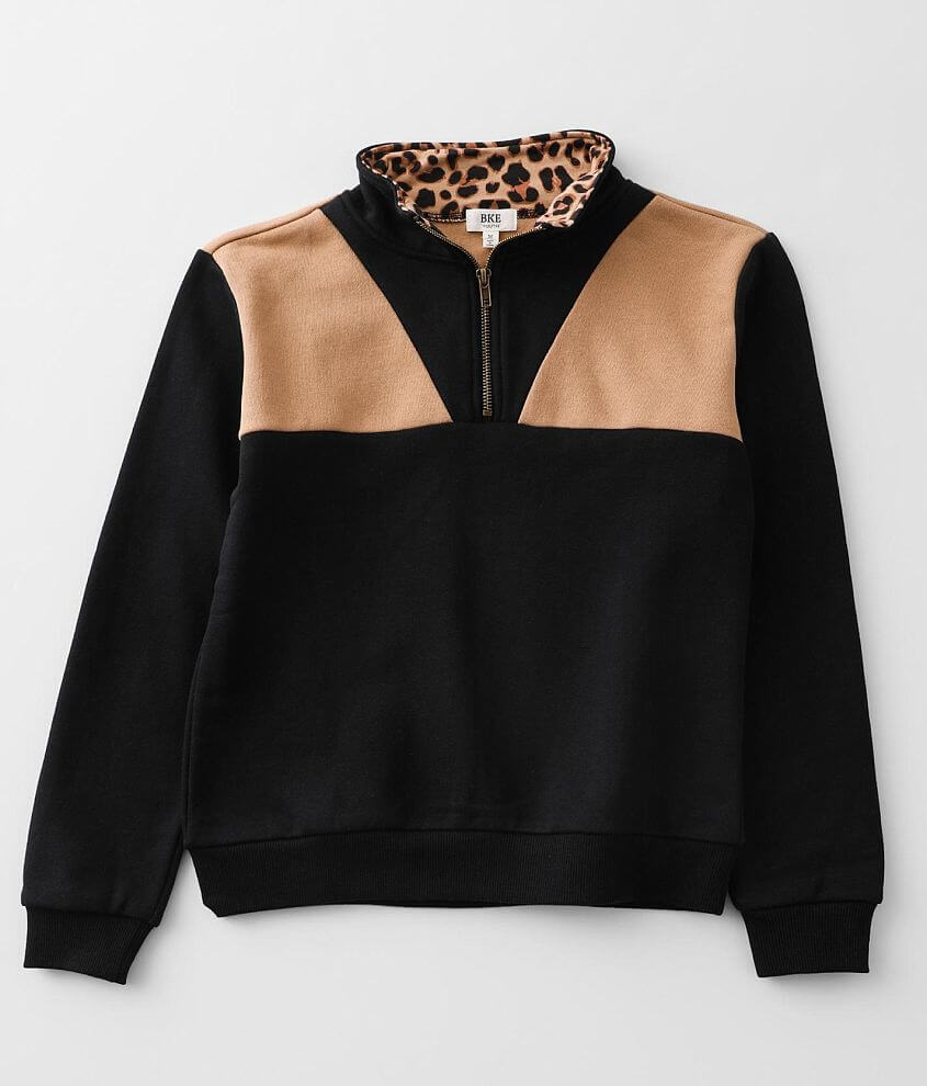 Girls - BKE Color Block Pullover front view