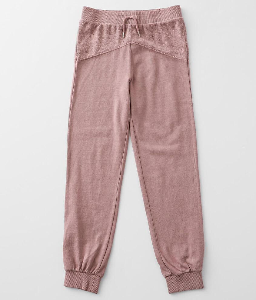Girls - Gilded Intent Reverse Pieced Jogger front view