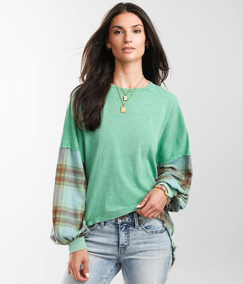 Free People Miley Washed Pullover front view