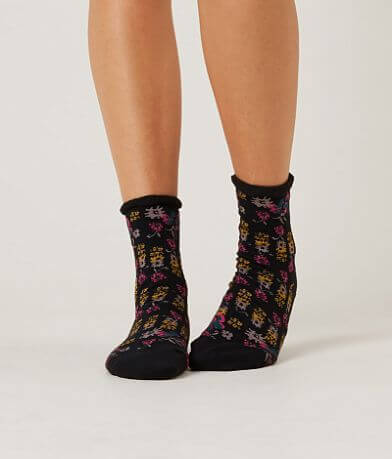 Free People Floral Anklet Socks