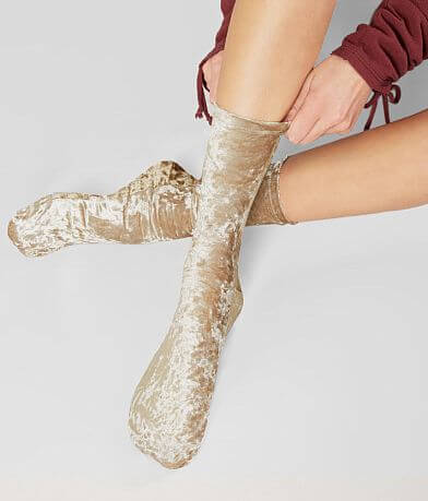 Free People Crushed Velvet Crew Sock