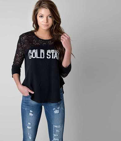 Free People Gold State Top