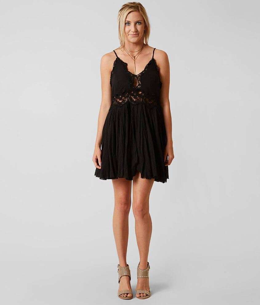 5eeba20815d6 Free People Ilektra Mini Dress - Women's Dresses in Black | Buckle