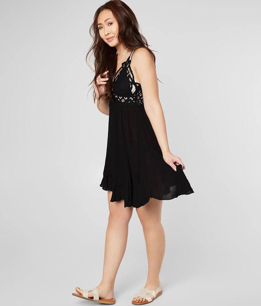 77d0dfb4db4b Free People Adella Slip Dress - Women's Dresses in Black | Buckle