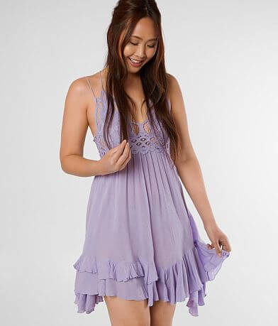 Free People Adella Lace Slip Dress