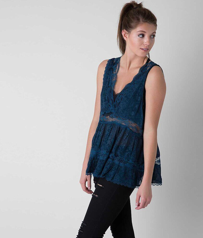Free People Pieced Tank Top front view