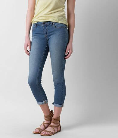 Free People Mid-Rise Roller Skinny Cropped Jean
