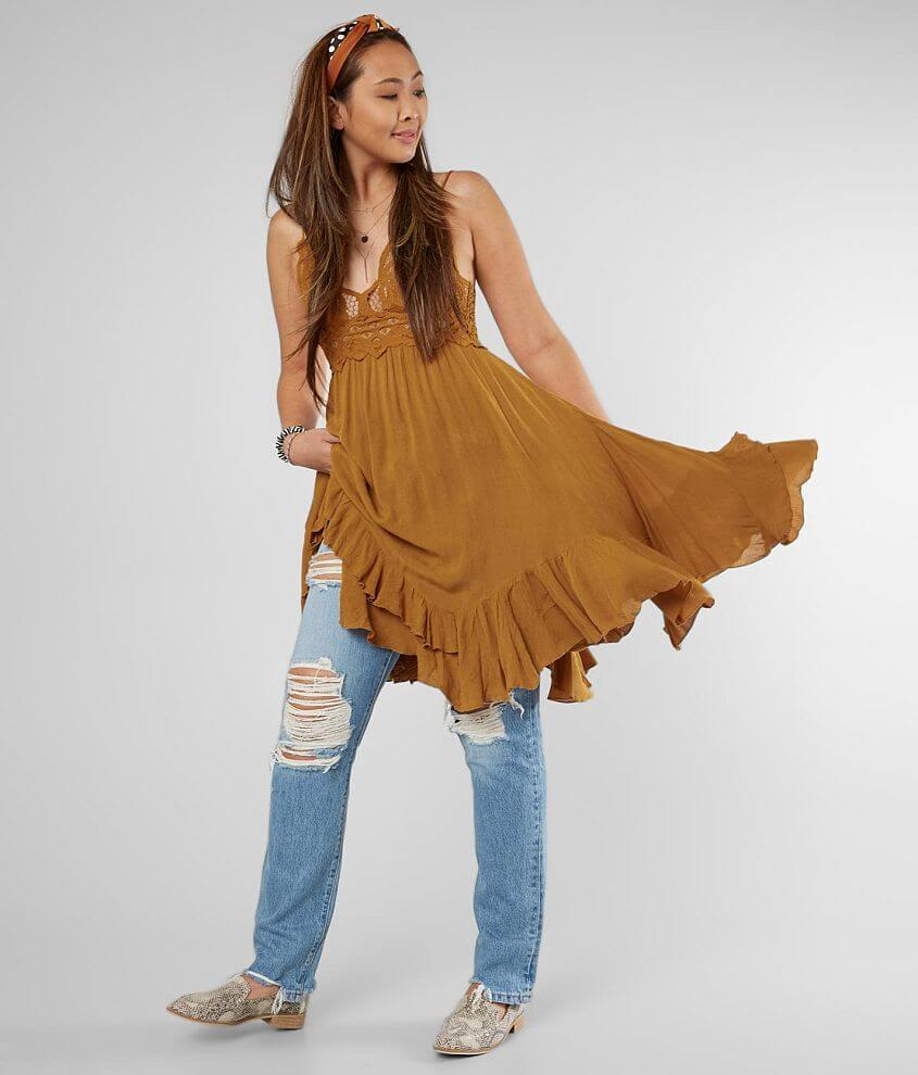 Free People Adella Lace Slip Dress front view