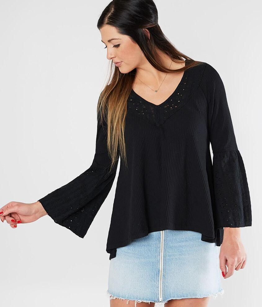 fbb5c5245e5b19 Free People Parisian Nights Top - Women s Shirts Blouses in Black ...