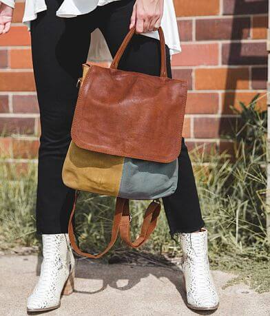 Free People Paris Color Block Leather Backpack