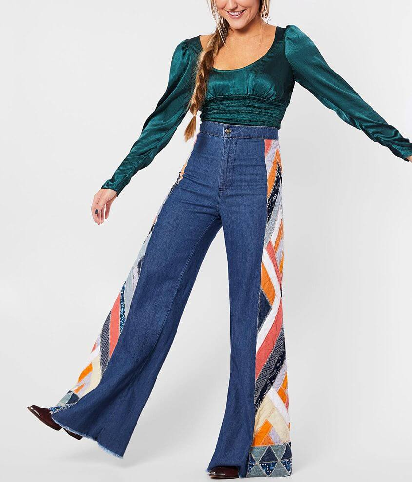 Free People Stick By Your Side High Flare Jean front view