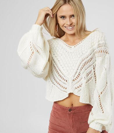 Free People Snowball Cropped Sweater