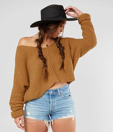 Free People Moonbeam V-Neck Dolman Sweater