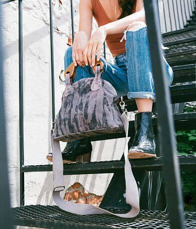 Free People Tie Dye Mini Willow Leather Tote