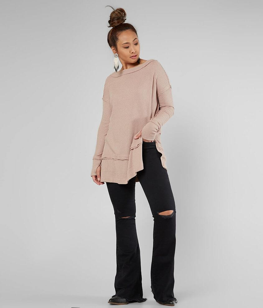 Free People North Shore Thermal Tunic Top front view