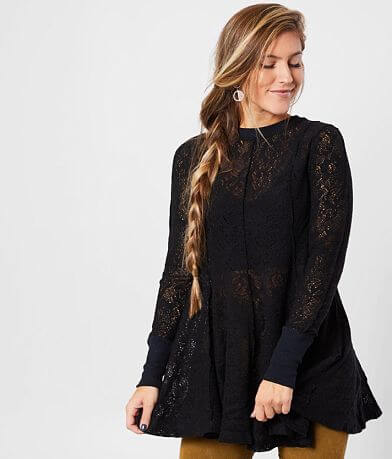 Free People Coffee In The Morning Tunic Top