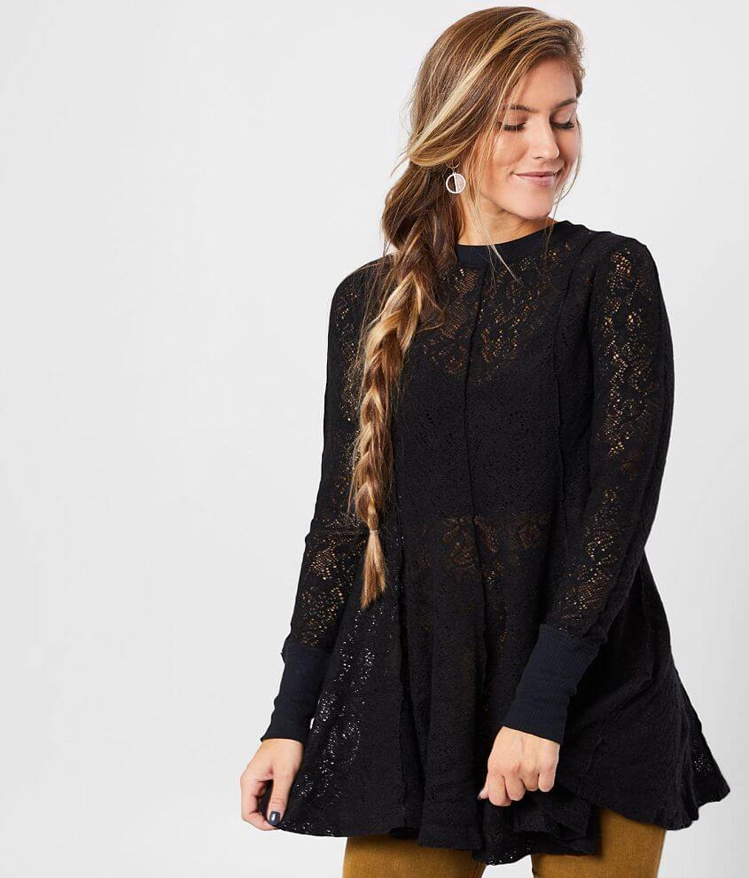 Free People Coffee In The Morning Tunic Top front view