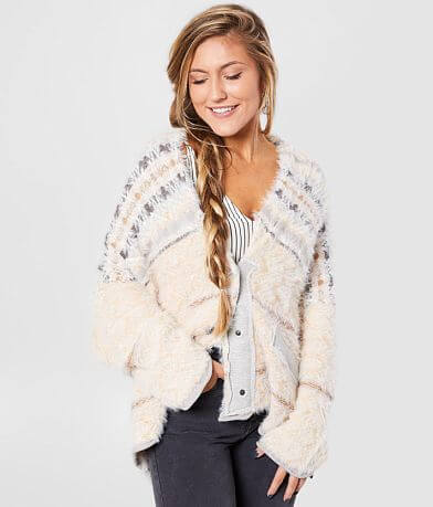 Free People Fair Weather Slouchy Cardigan Sweater