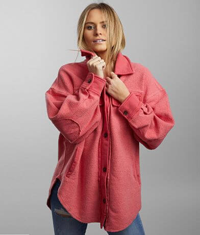 Free People Ruby Reverse Fleece Jacket