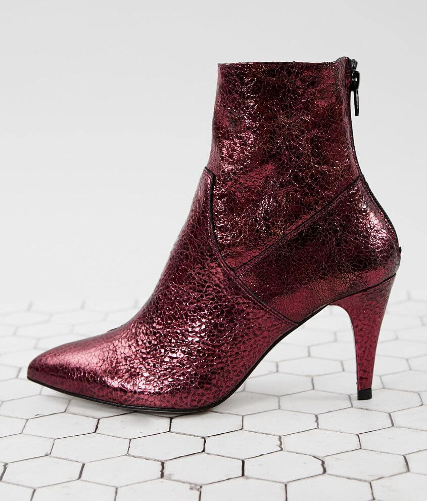 Free People Willa Metallic Leather Ankle Boot front view