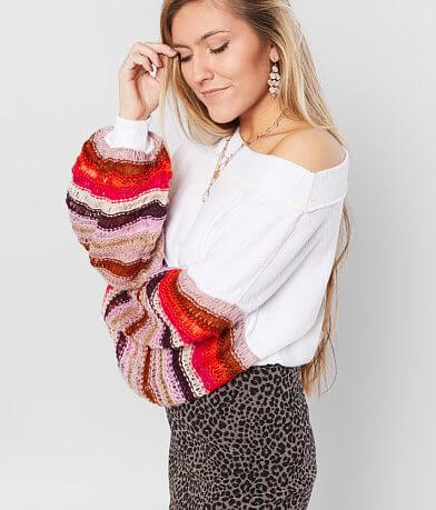 Free People Cha Cha Brushed Knit Pullover