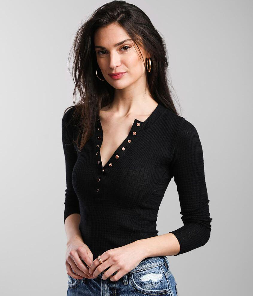 Free People One Of The Girls Henley front view