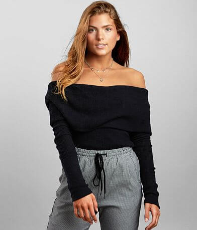 Free People Snowbunny Off The Shoulder Top
