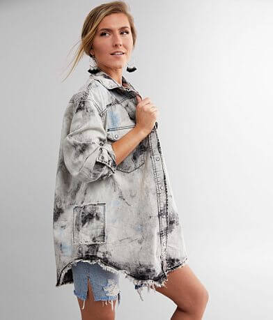Free People Lovestruck Washed Denim Jacket