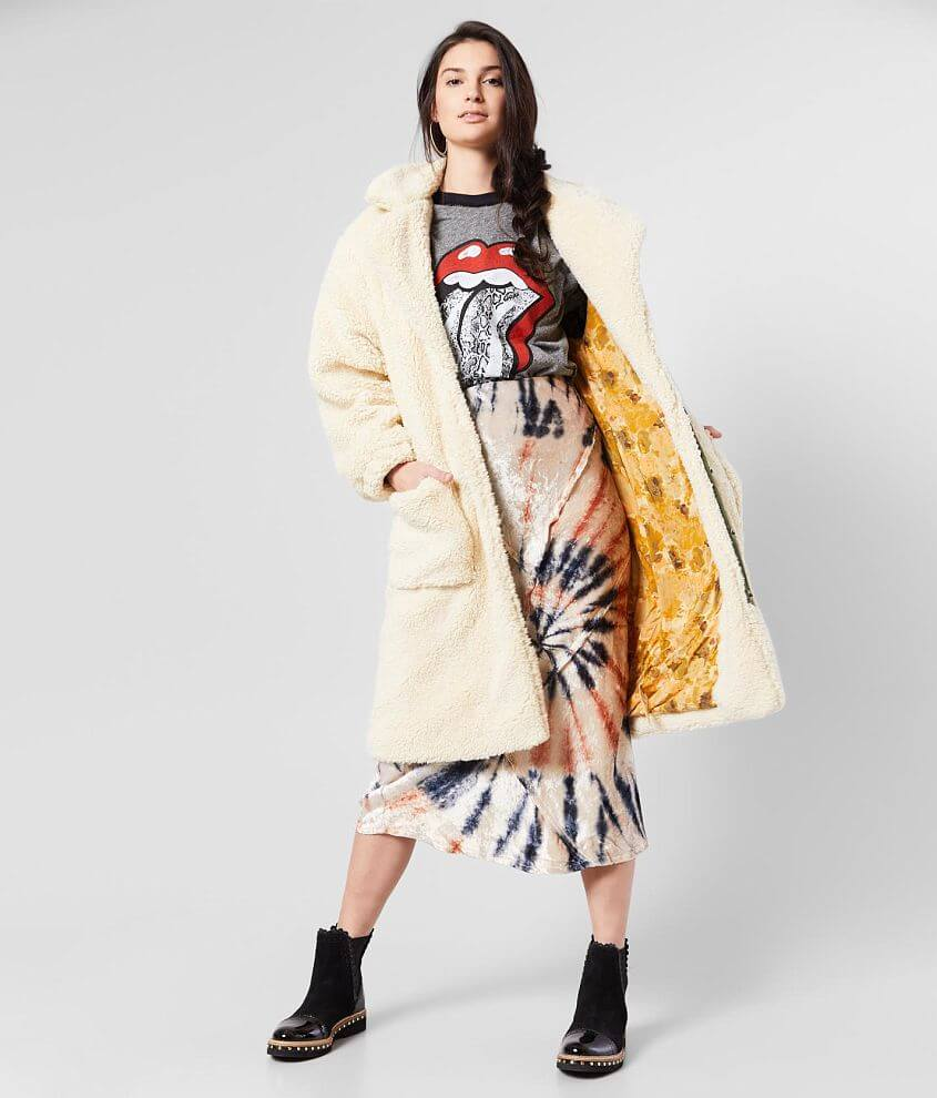 Free People Tessa Teddy Coat front view