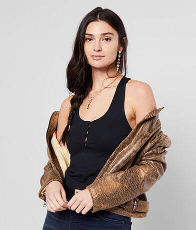 Free People Hang Out Henley Tank Top