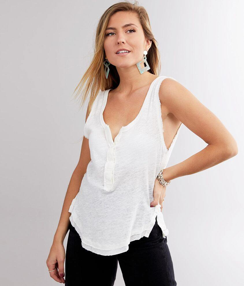 Free People Vacay Tank Top Women S Tank Tops In White Buckle