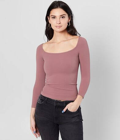 Free People Square Neck Cropped Top
