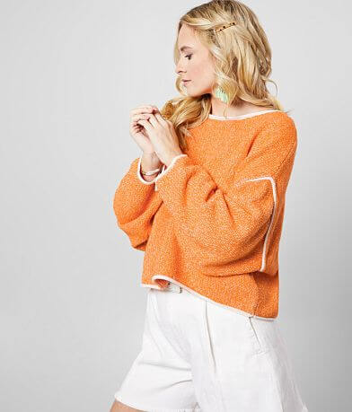 Free People Bardot Cropped Sweater