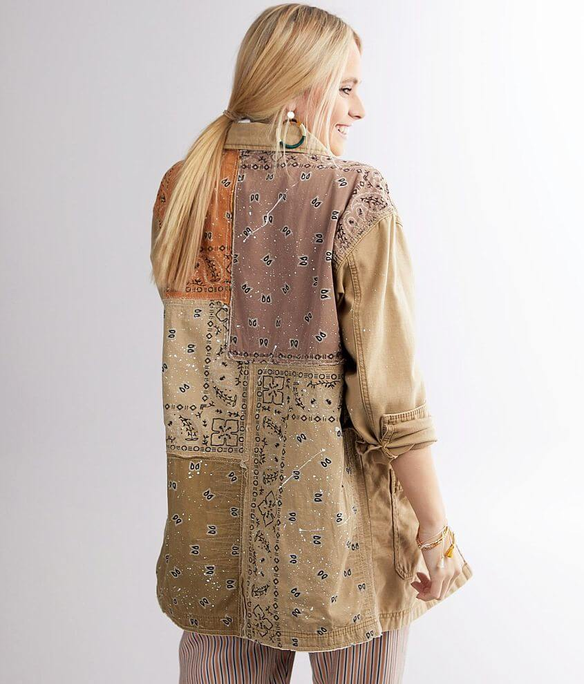 Free People Swept Up Shirt Jacket front view