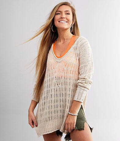 Free People Pretty In Pointelle Sweater