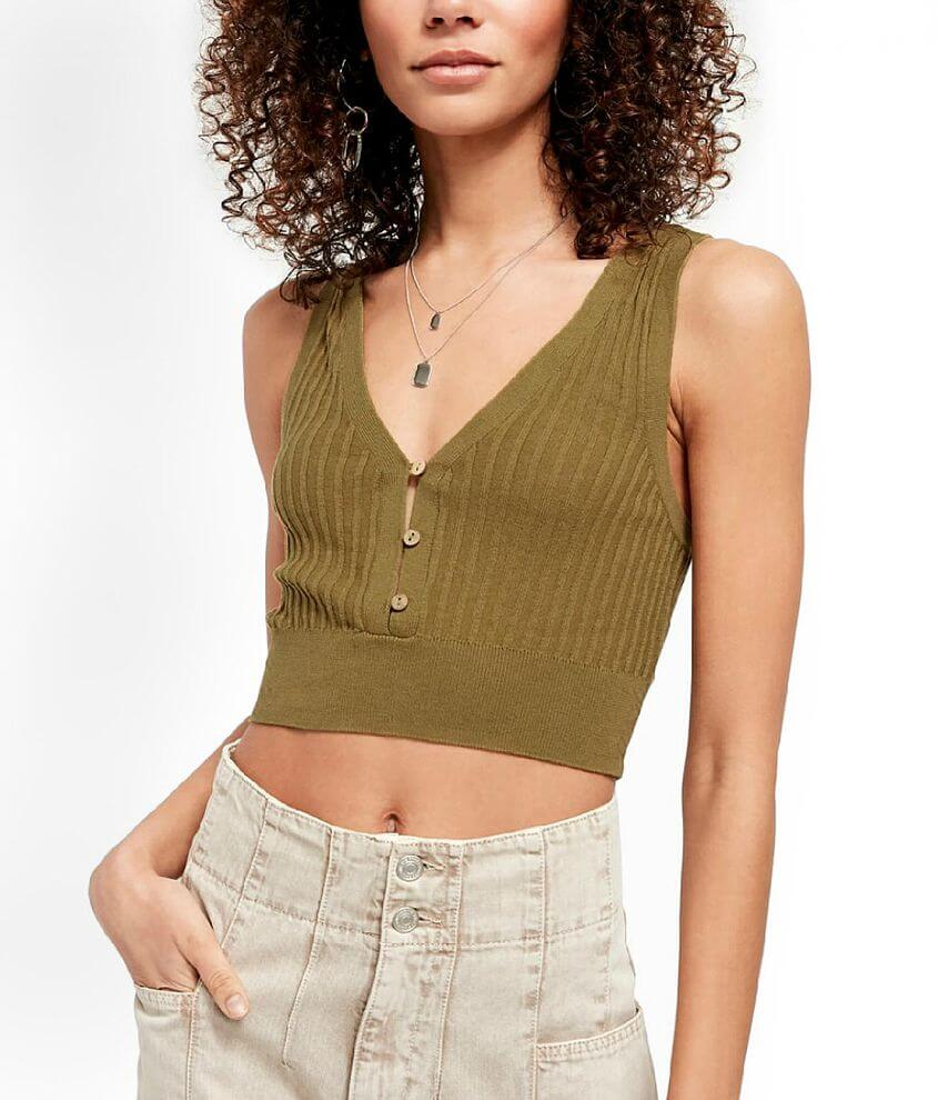 Free People Saturday Morning Cropped Tank Top front view