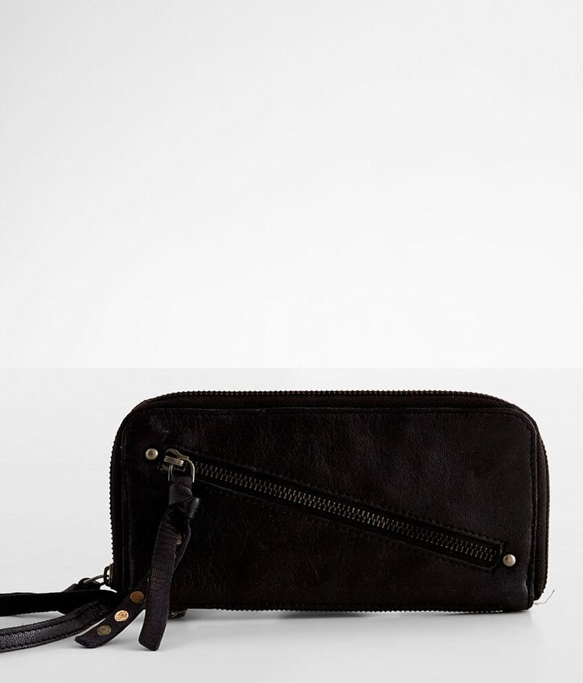 Free People Distressed Leather Wallet front view