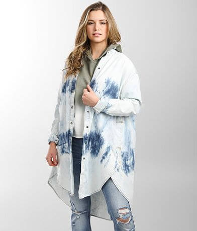 Free People Tuscan Denim Tunic Shirt